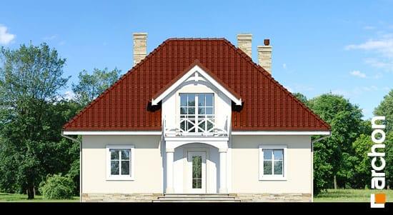 Elewacja frontowa projekt dom w szkarlatkach  264