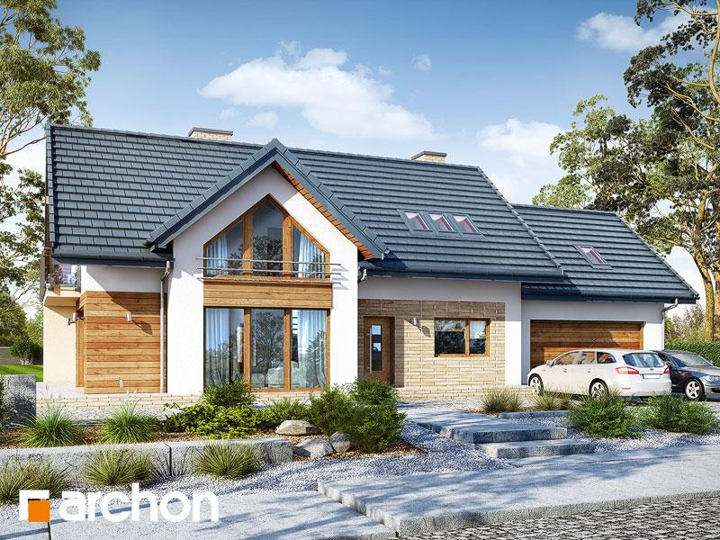 Projekt: Dom w daktylowcach (G2) ver.2 Wizualizacja widok 1