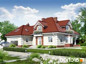 projekt Dom w nagietkach 2 lustrzane odbicie 1