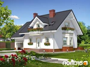 projekt Dom w rododendronach 15 lustrzane odbicie 1