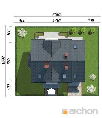 projekt Dom w rododendronach 15 sytuacja