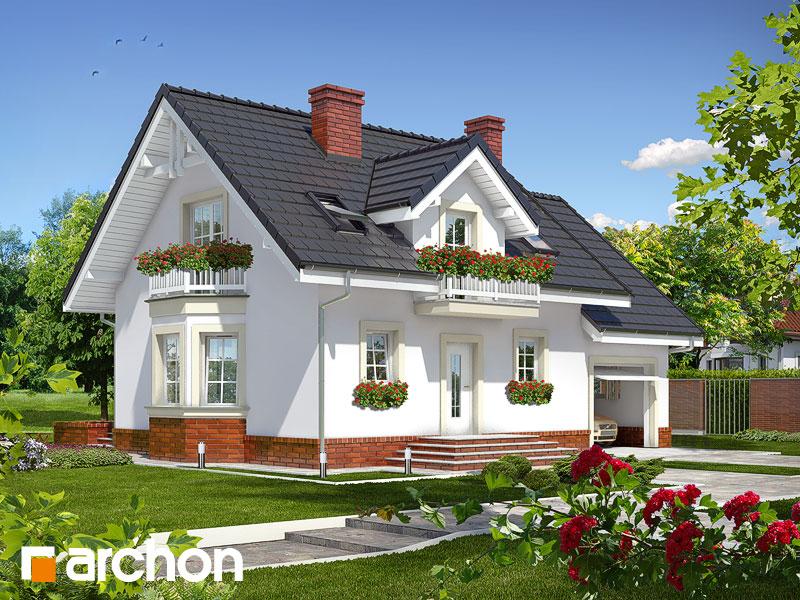 projekt Dom w rododendronach 15 widok 1