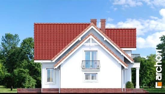 Elewacja boczna projekt dom w kosowce  266