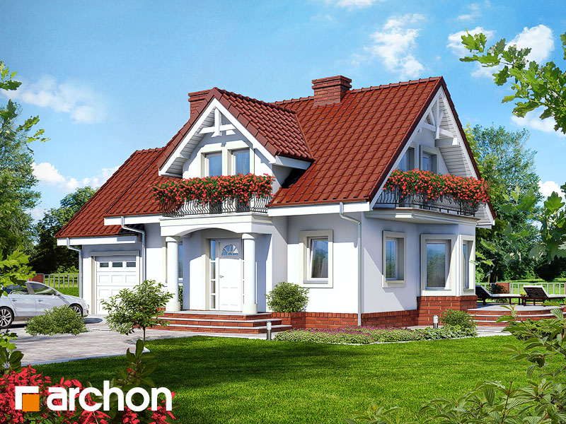 Projekt: Dom w kosówce Wizualizacja widok 1