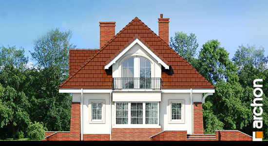 Elewacja boczna projekt dom w koniczynce 3  265