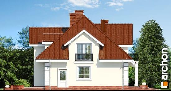 Elewacja boczna projekt dom w wiciokrzewie  265