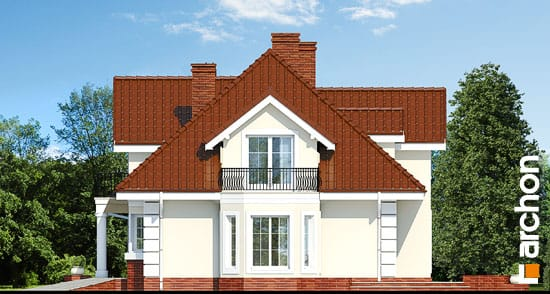 Elewacja boczna projekt dom w wiciokrzewie  266