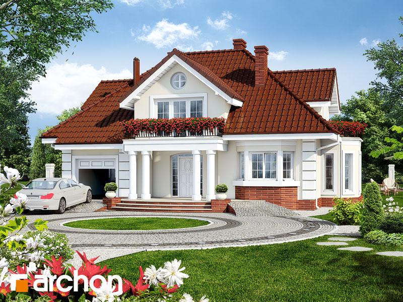 Projekt: Dom w wiciokrzewie Wizualizacja widok 1