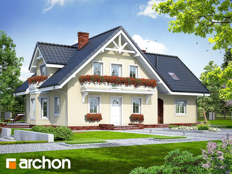 Projekt: Dom w borowikach Wizualizacja widok 1