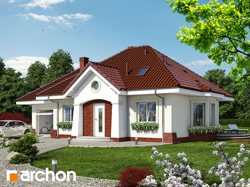 Projekt: Dom w lotosach (G) Wizualizacja widok 1