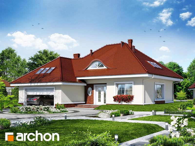 Projekt: Dom w arbuzach Wizualizacja widok 1