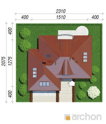 projekt Dom w arbuzach sytuacja