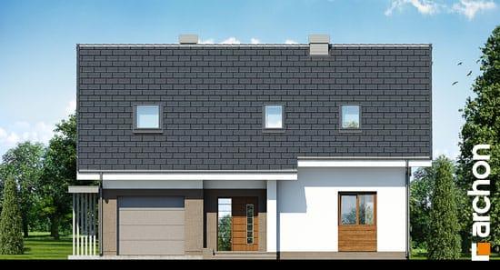 Elewacja frontowa projekt dom w limetkach ver 2  264
