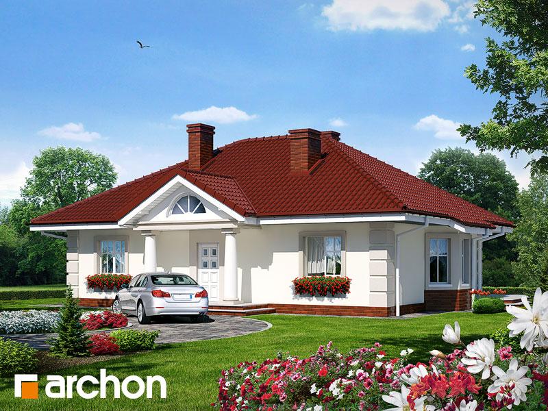 Projekt: Dom pod jarząbem ver.2 Wizualizacja widok 1