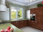 projekt Dom pod jarząbem Wizualizacja kuchni 2 widok 3