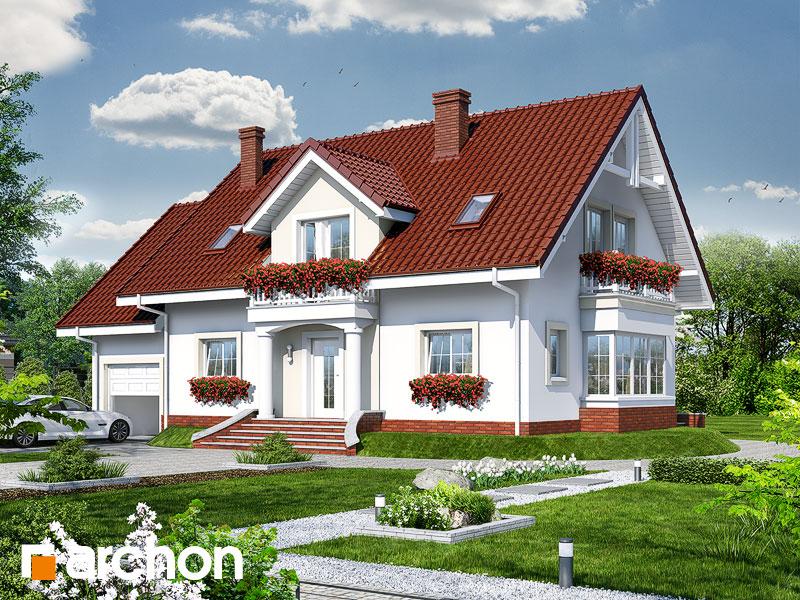 Projekt: Dom w kaliach 2 ver.2 Wizualizacja widok 1