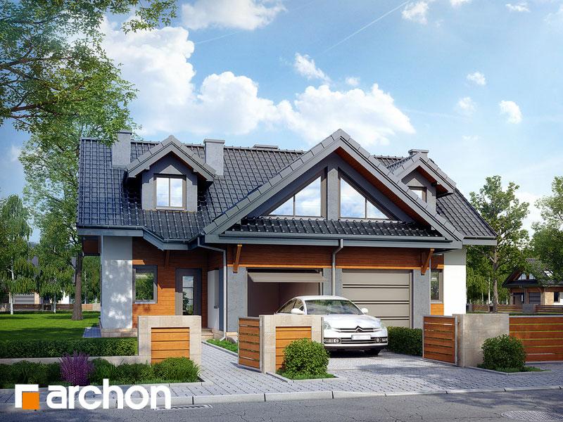 Projekt: Dom w klematisach 5 Wizualizacja widok 1