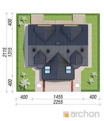 projekt Dom w klematisach 5 sytuacja