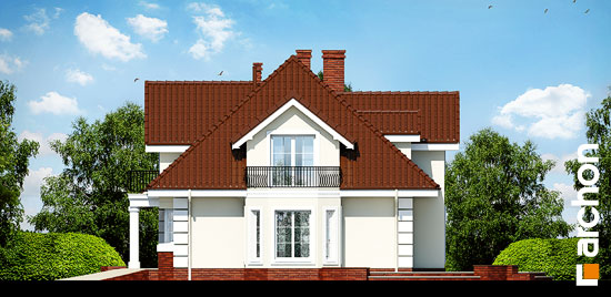 Elewacja boczna projekt dom w wiciokrzewie g2  265