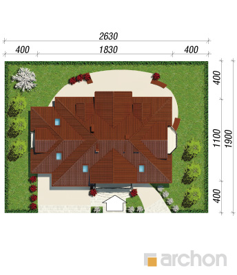 projekt Dom w wiciokrzewie (G2) sytuacja