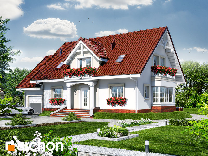 Projekt: Dom w kaliach 2 Wizualizacja widok 1