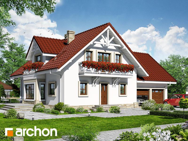 Projekt: Dom w oregano Wizualizacja widok 1