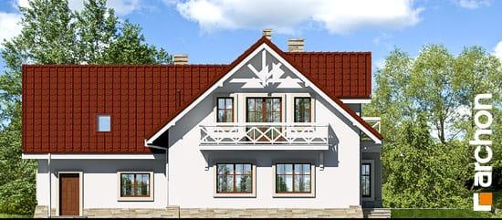 Elewacja ogrodowa projekt dom w oregano  267