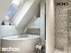 projekt Dom w awokado (G) Wizualizacja łazienki (wizualizacja 3 widok 1)