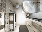 projekt Dom w awokado (G) Wizualizacja łazienki (wizualizacja 3 widok 5)