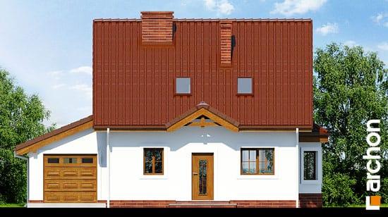 Elewacja frontowa projekt dom w poziomkach 3 g  264