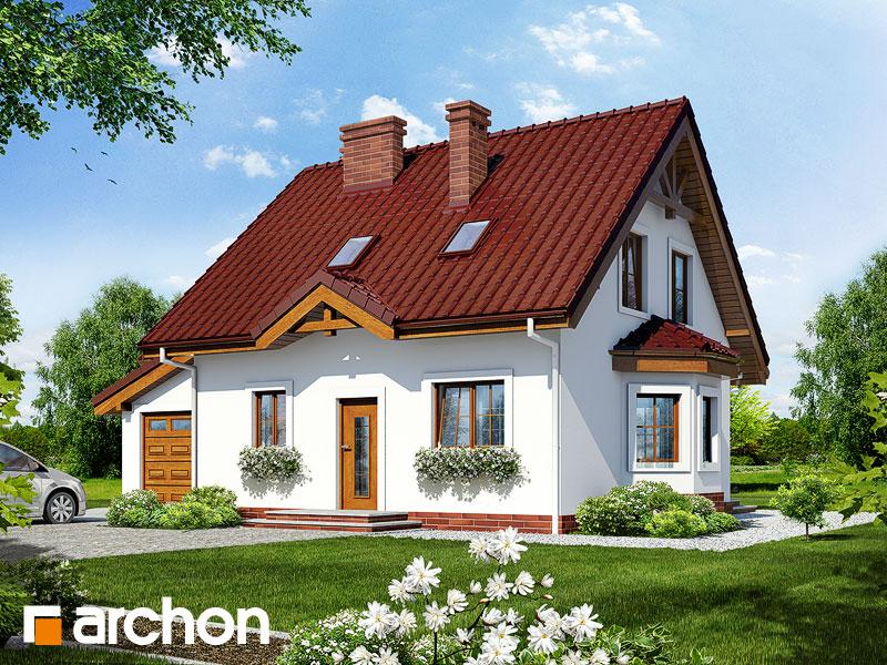 Projekt: Dom w poziomkach 3 (G) Wizualizacja widok 1