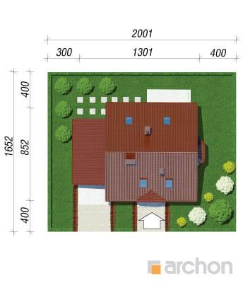projekt Dom w poziomkach 3 (G) sytuacja