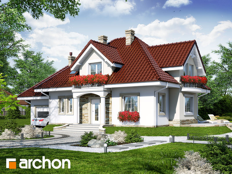 Projekt: Dom w werbenach 3 Wizualizacja widok 1