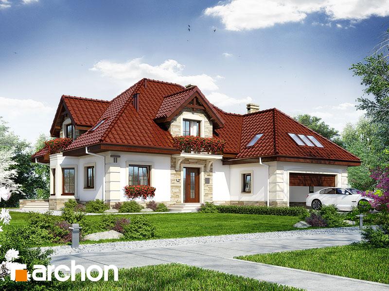 Projekt: Dom w nagietkach 3 Wizualizacja widok 1