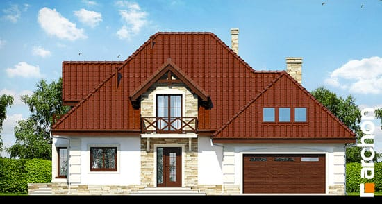Elewacja frontowa projekt dom w nagietkach 3  264