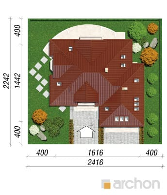 projekt Dom w nagietkach 3 sytuacja