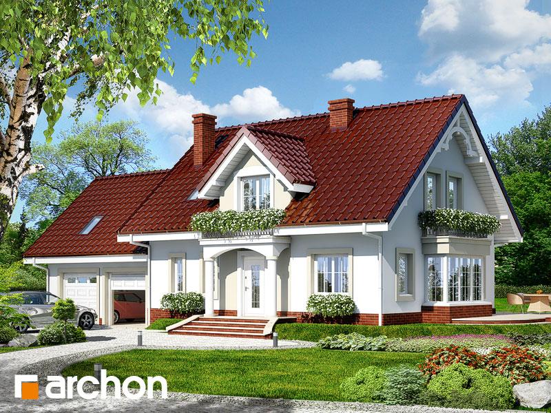 Projekt: Dom w werbenach 2 (G2) Wizualizacja widok 1