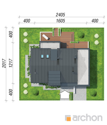 projekt Dom pod ambrowcem sytuacja