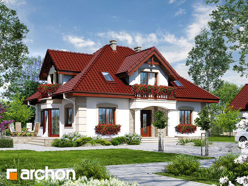 Projekt: Dom w jeżówkach 3 Wizualizacja widok 1