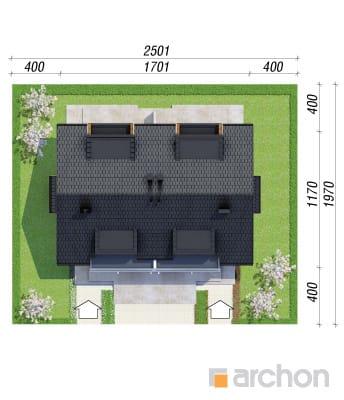 projekt Dom w klematisach 8 sytuacja