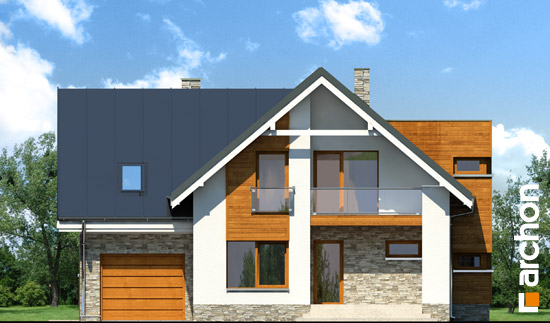 Elewacja frontowa projekt dom w tabasko  264