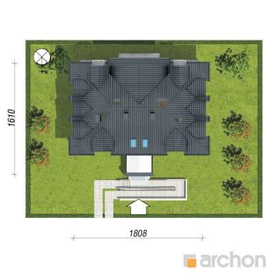 projekt Dom nad bulwarem 10 sytuacja