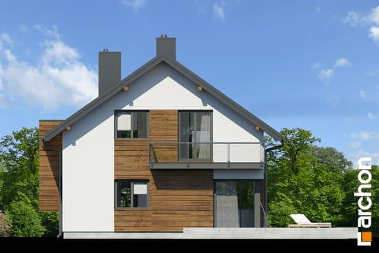 Elewacja ogrodowa projekt dom pod graviola  267