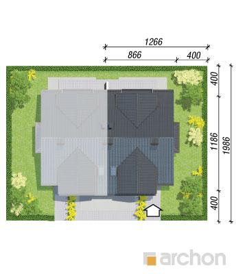 projekt Dom w klematisach 9 (B) sytuacja