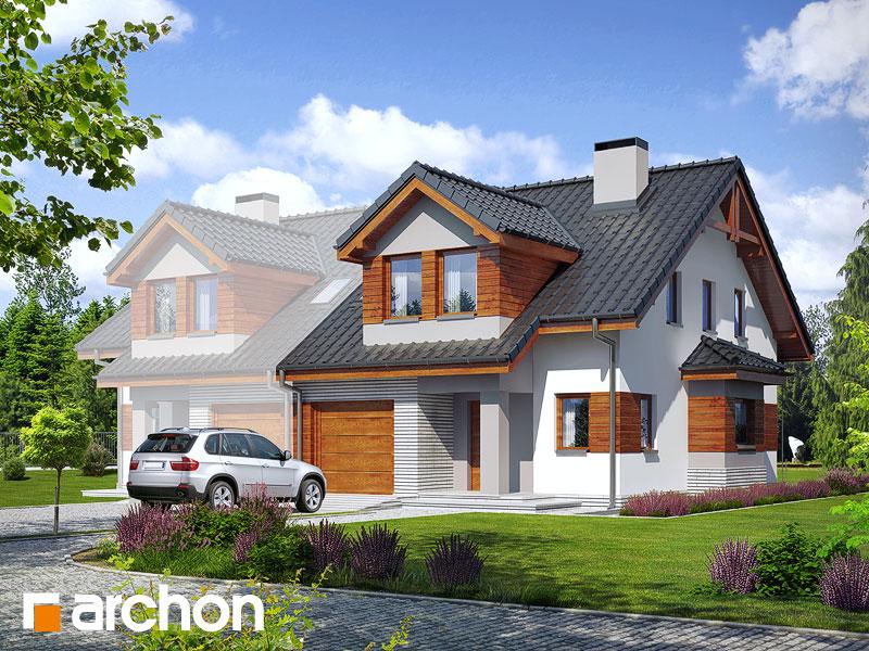 Projekt: Dom w klematisach 9 (B) ver.2 Wizualizacja widok 1