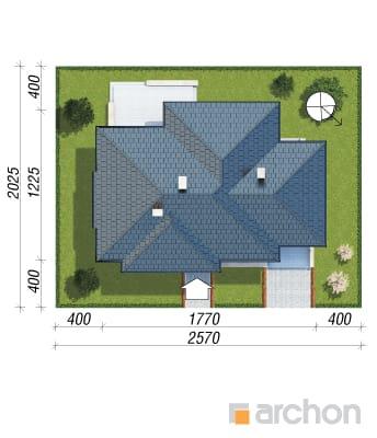 projekt Dom w modrzykach sytuacja