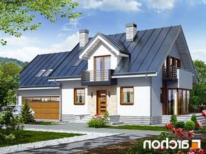 projekt Dom w rododendronach 6 (G2N) lustrzane odbicie 1