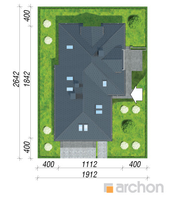 projekt Dom w sanwitaliach sytuacja