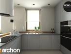 projekt Dom w mango 2 Wizualizacja kuchni 1 widok 2