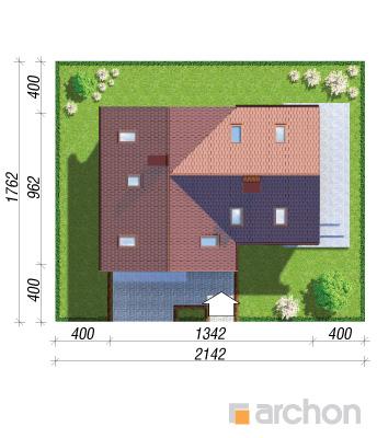 projekt Dom w mango 2 sytuacja